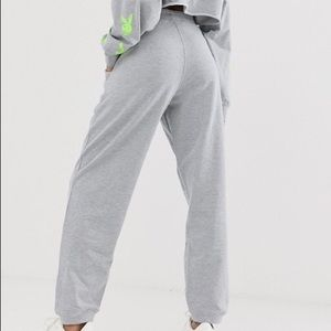 Misguided light grey joggers